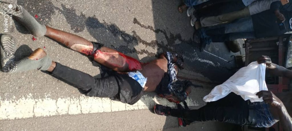 VIP Bus Crushes Motorbike Rider to Death at Nsawam 2